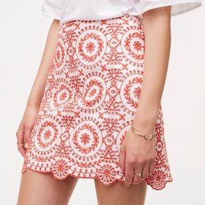 Loft lined eyelet skirt